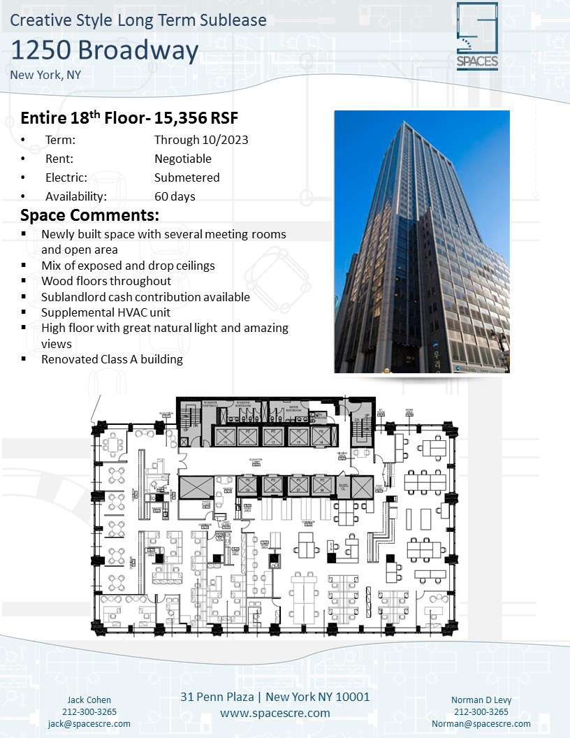 Slide1 1250 Broadway- 15,000 RSF Creative Sublease at the new Nomad Tower