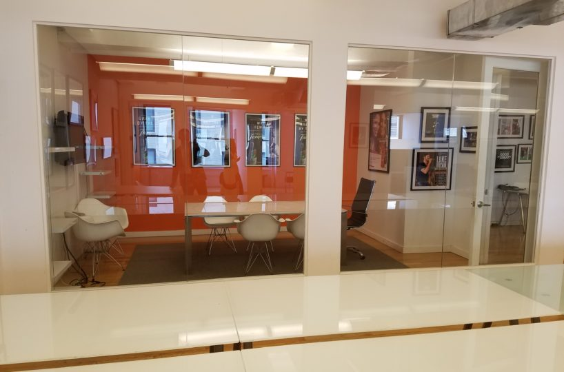 Glass fronted office space in Flatiron