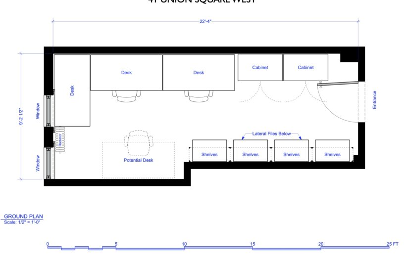 OFFICE PLAN-818x540 Coworking Spaces/ Serviced Offices